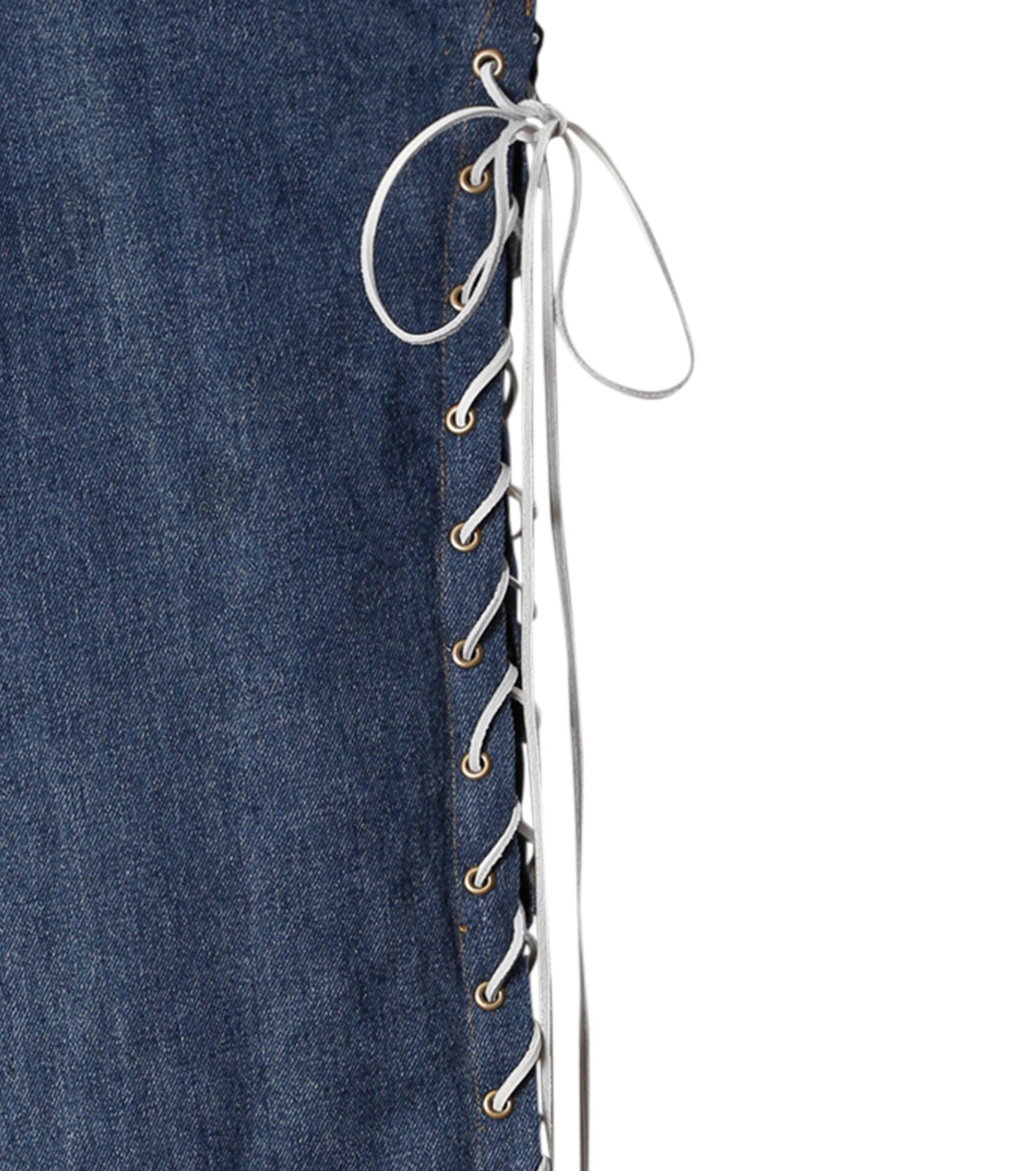 77circa(77サーカ)のCut Back Lace Up Denim Pants-INDIGO(デニム/denim)-CC16AW-46-94 拡大詳細画像3