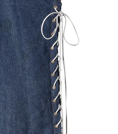 77circa(77サーカ)のCut Back Lace Up Denim Pants-INDIGO(デニム/denim)-CC16AW-46-94 詳細画像3