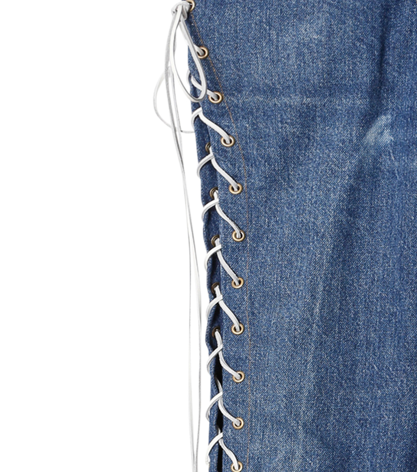 77circa(77サーカ)のCut Back Lace Up Denim Pants-INDIGO(デニム/denim)-CC16AW-46-94 拡大詳細画像4