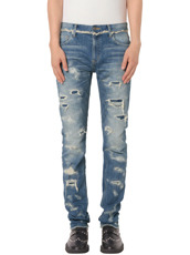 CHRISTIAN DADA Full Damaged Denim