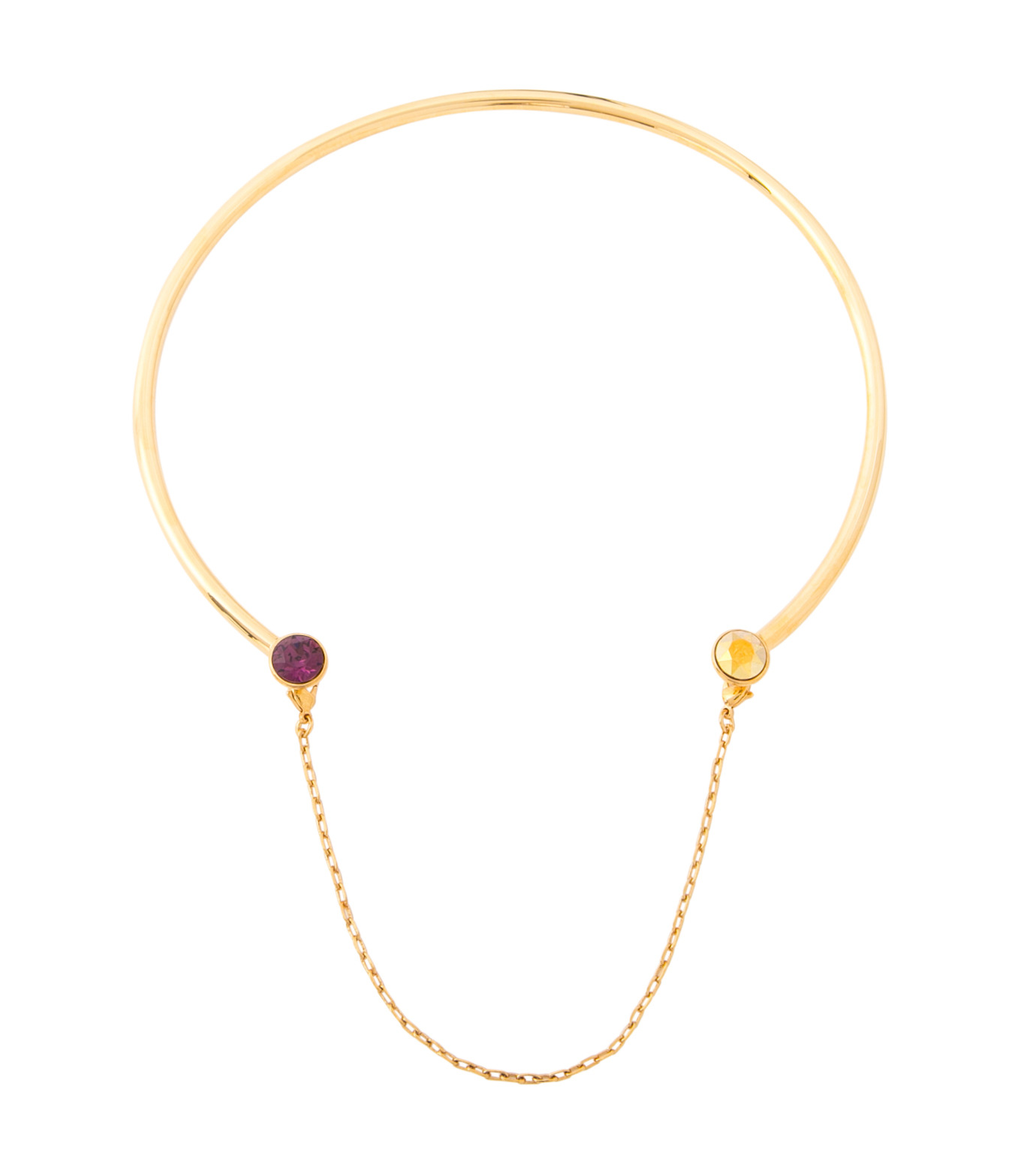 Maria Francesca Pepe(マリア フランチェスカ ペペ)のPunk Kiss Neck Cuff-GOLD(ネックレス/necklace)-CH171-23-2 拡大詳細画像1