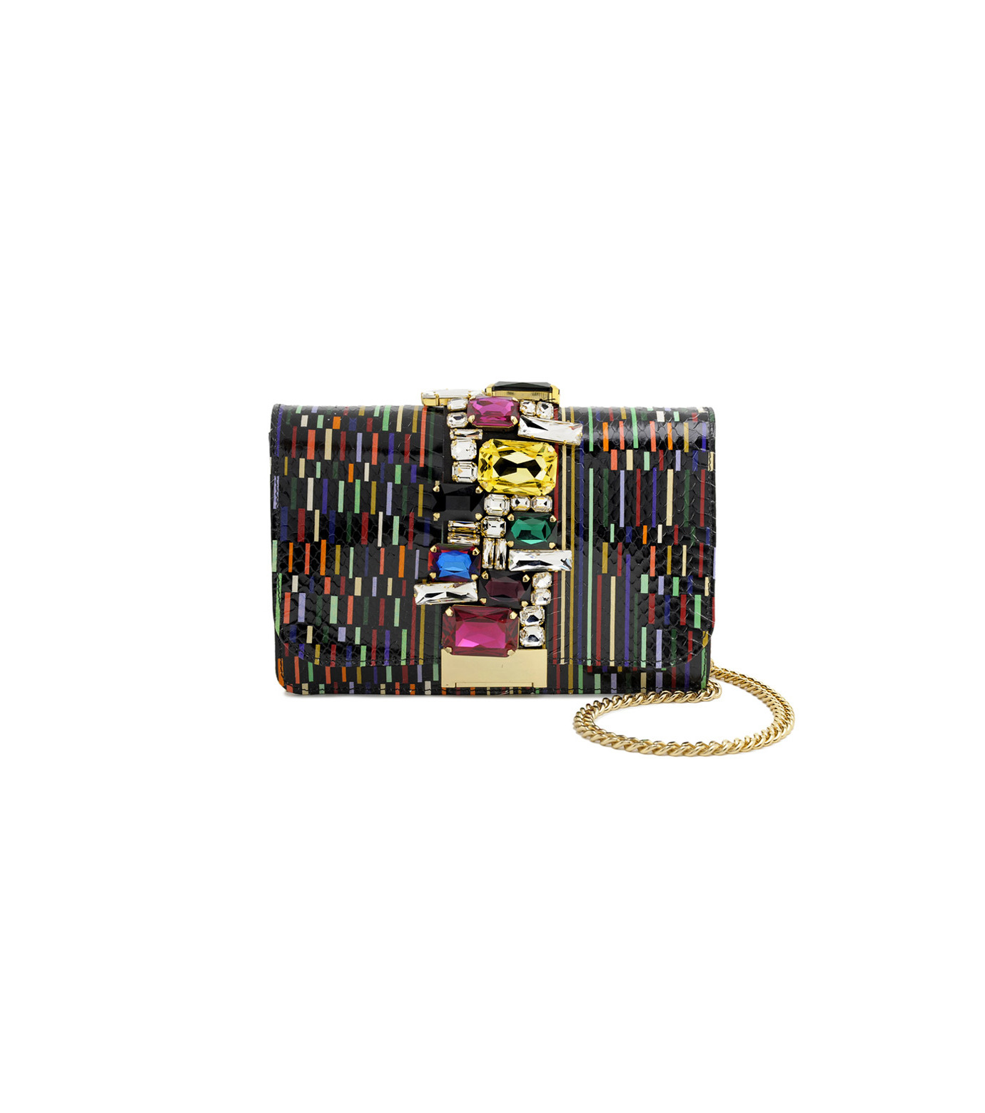 GEDEBE()のMondrian Multi-BLACK(ショルダーバッグ/shoulder bag)-CLIKY-SNAKE-13 拡大詳細画像1