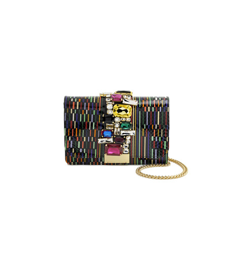 GEDEBE()のMondrian Multi-BLACK(ショルダーバッグ/shoulder bag)-CLIKY-SNAKE-13 詳細画像1