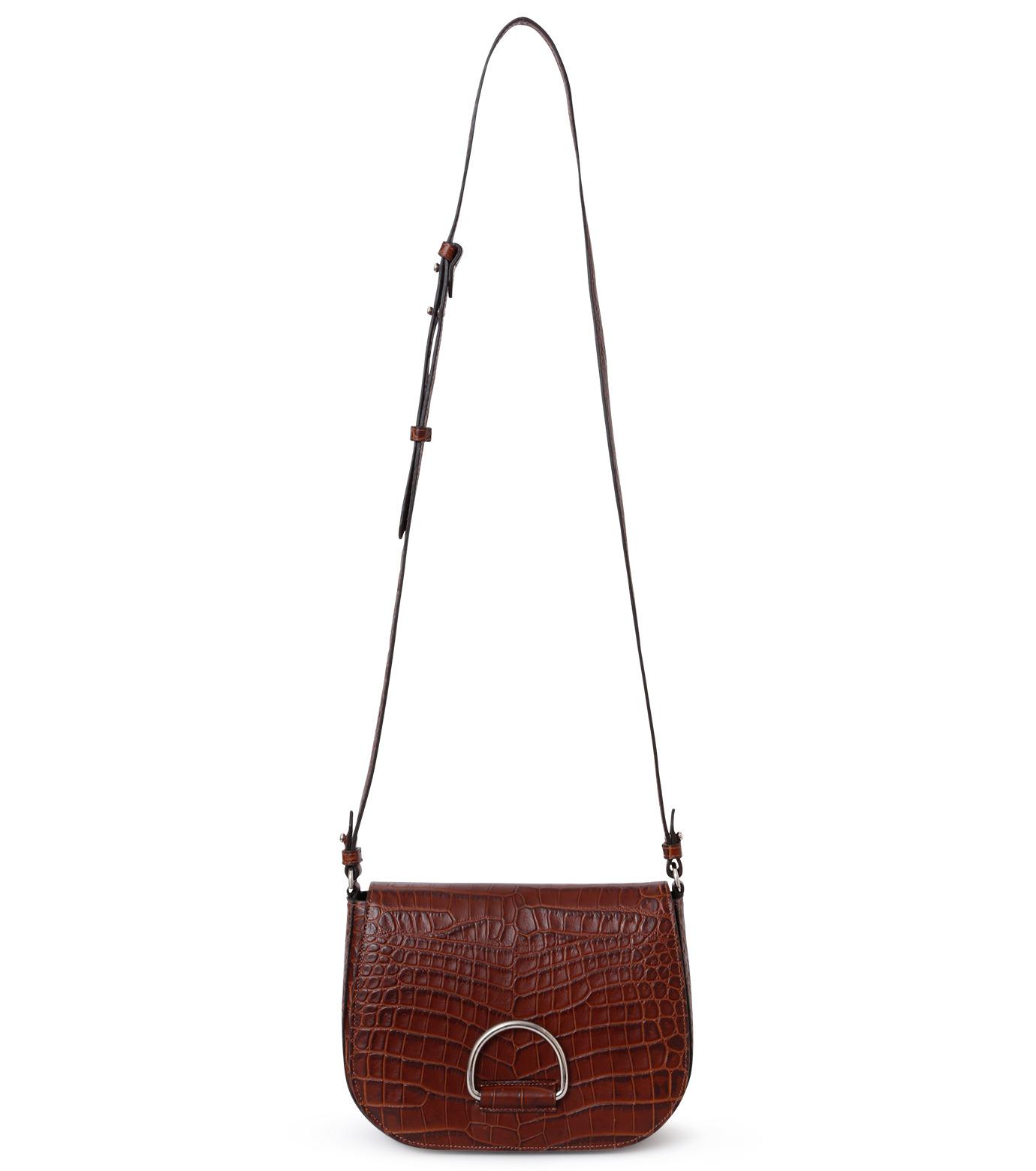 Little Liffner(リトル リフナー)のSaddleStyle D-ring-DARK BROWN(ショルダーバッグ/shoulder bag)-CR2784-53 拡大詳細画像1
