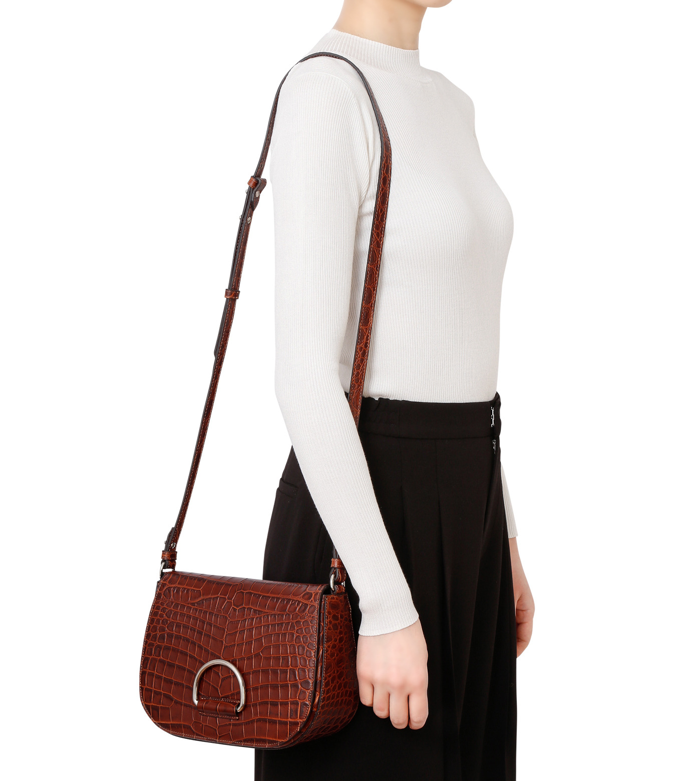 Little Liffner(リトル リフナー)のSaddleStyle D-ring-DARK BROWN(ショルダーバッグ/shoulder bag)-CR2784-53 拡大詳細画像5