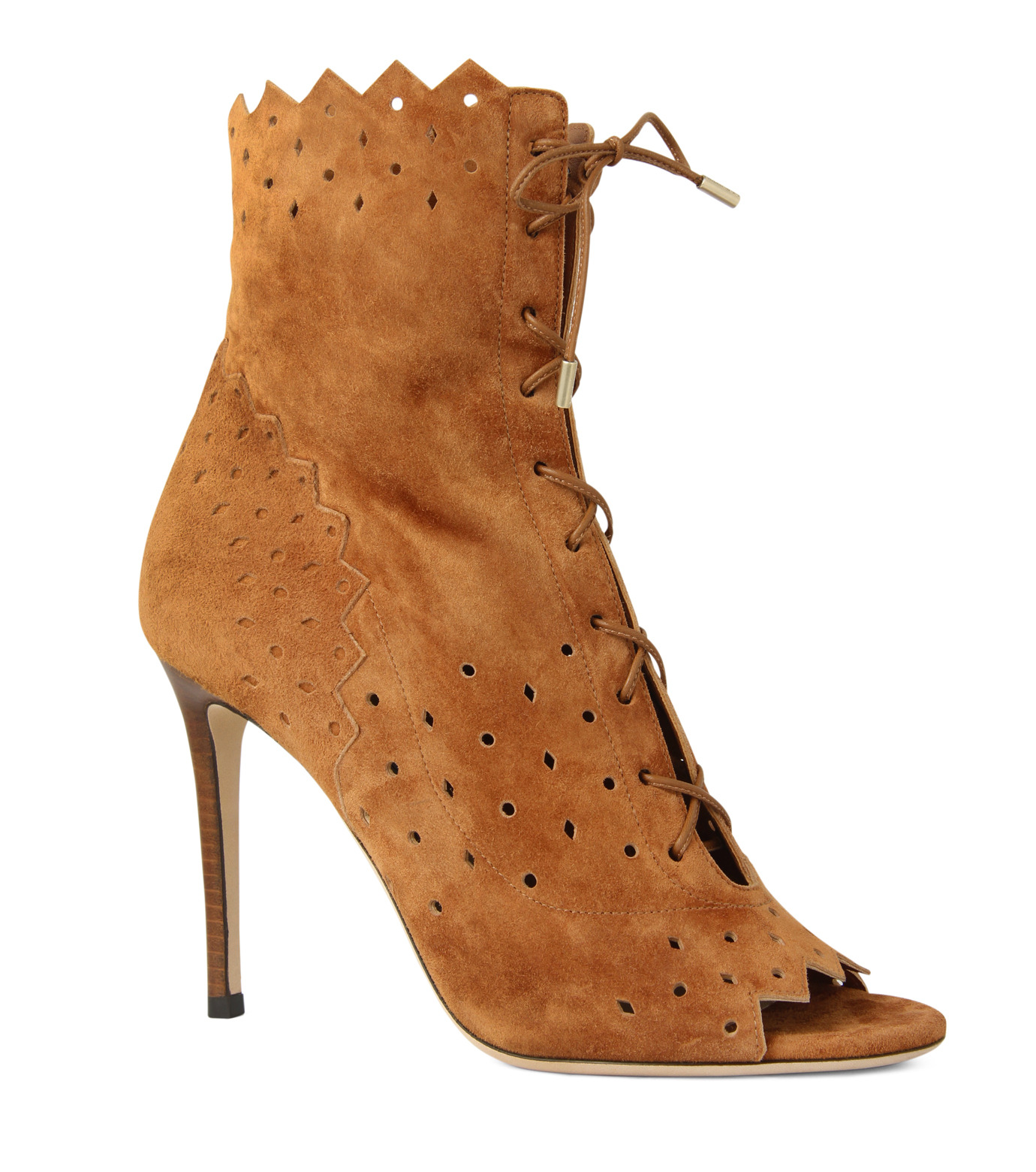 Jimmy Choo(ジミーチュウ)の161Cashmere Suede Laceup Boots-CAMEL(ブーツ/boots)-DEI-100-HSC-53 拡大詳細画像1