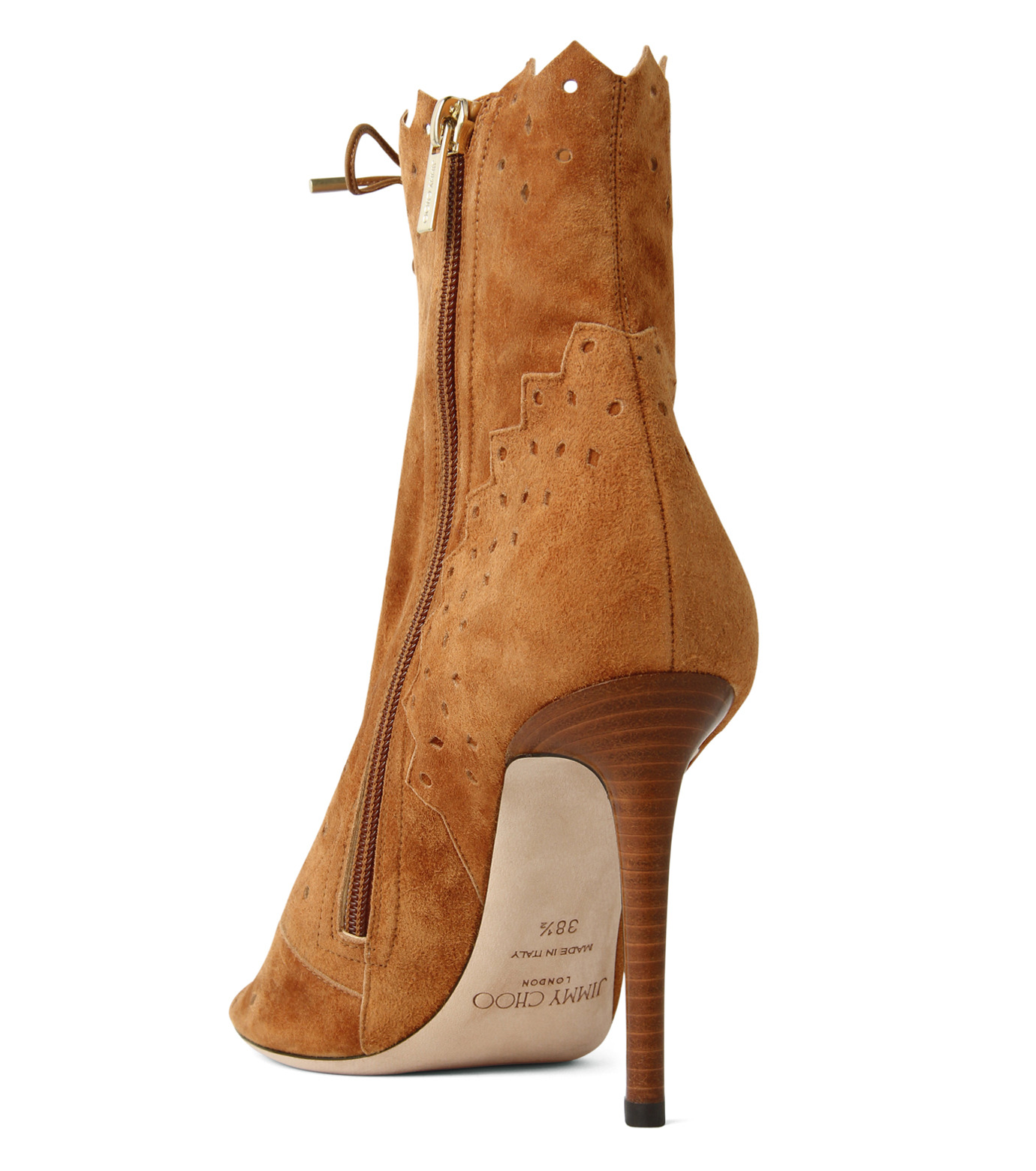 Jimmy Choo(ジミーチュウ)の161Cashmere Suede Laceup Boots-CAMEL(ブーツ/boots)-DEI-100-HSC-53 拡大詳細画像2