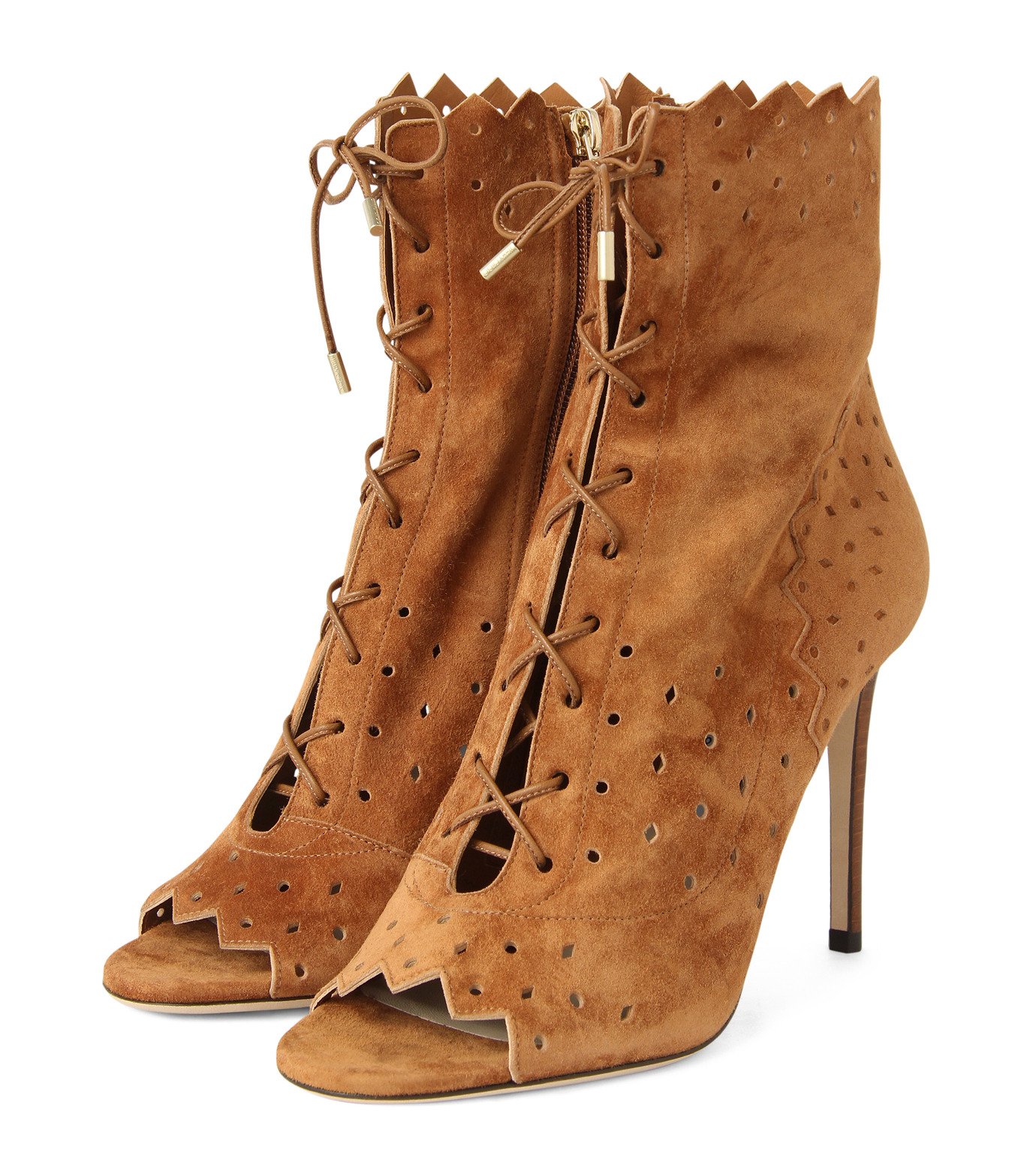 Jimmy Choo(ジミーチュウ)の161Cashmere Suede Laceup Boots-CAMEL(ブーツ/boots)-DEI-100-HSC-53 拡大詳細画像3