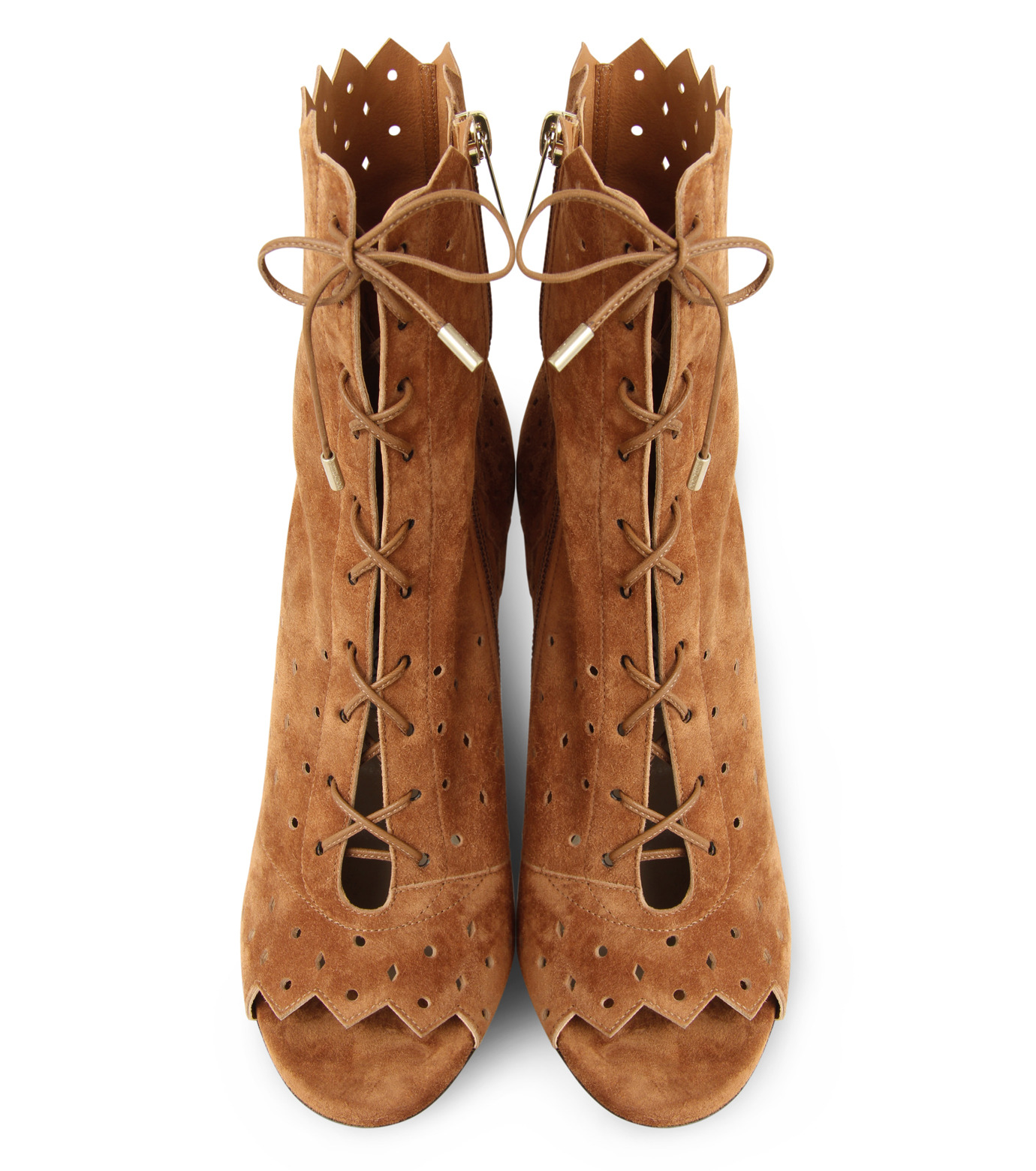 Jimmy Choo(ジミーチュウ)の161Cashmere Suede Laceup Boots-CAMEL(ブーツ/boots)-DEI-100-HSC-53 拡大詳細画像4