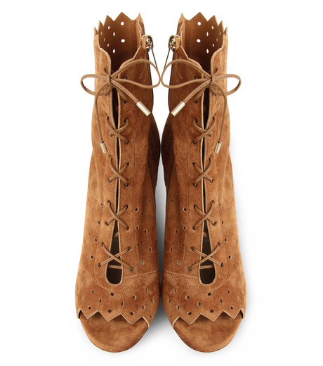 Jimmy Choo(ジミーチュウ)の161Cashmere Suede Laceup Boots-CAMEL(ブーツ/boots)-DEI-100-HSC-53 詳細画像4