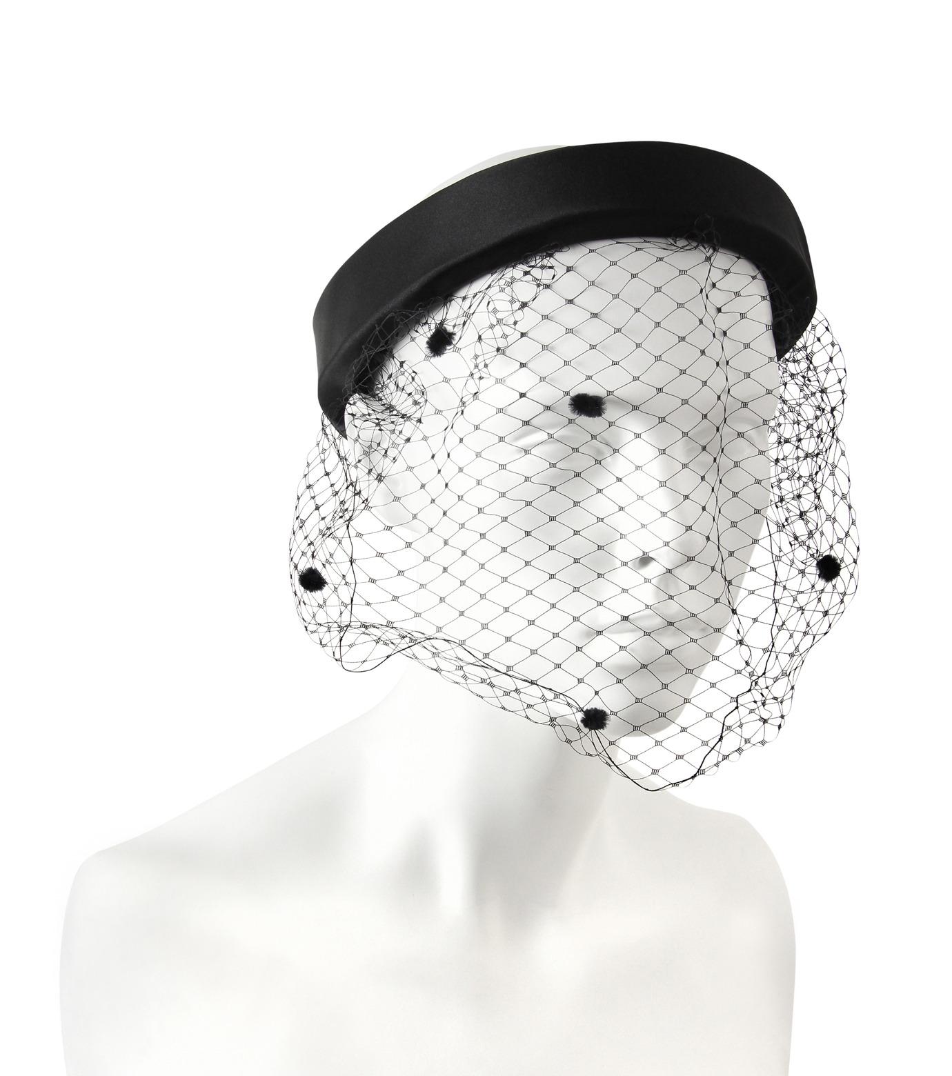 Federica Moretti(フェデリカ モレッティ)のHeadband w/Veil-BLACK(HAIR ACCESSORIES/HAIR ACCESSORIES)-DIANA2-13 拡大詳細画像1
