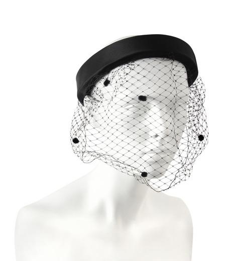 Federica Moretti(フェデリカ モレッティ)のHeadband w/Veil-BLACK(HAIR ACCESSORIES/HAIR ACCESSORIES)-DIANA2-13 詳細画像1