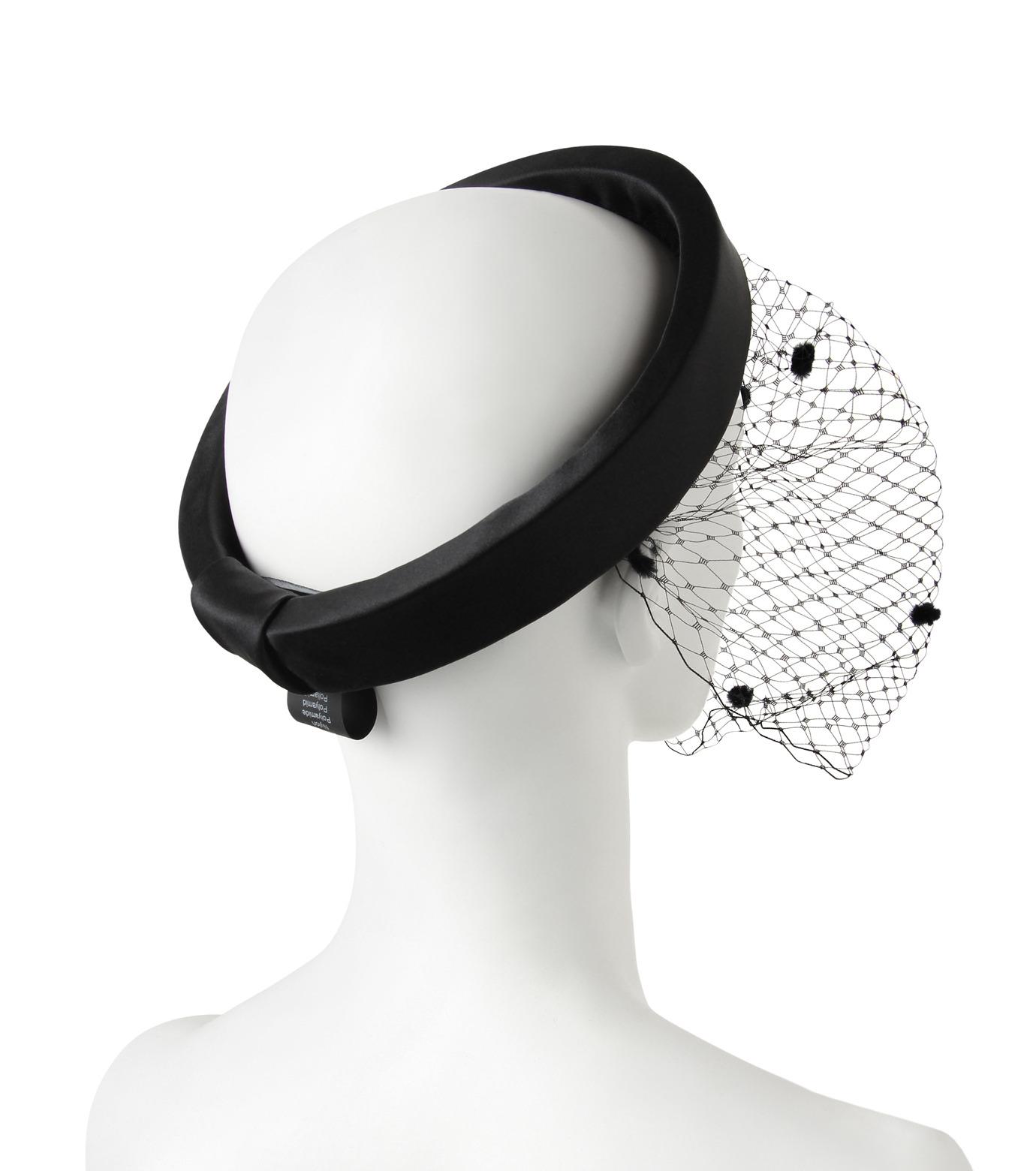 Federica Moretti(フェデリカ モレッティ)のHeadband w/Veil-BLACK(HAIR ACCESSORIES/HAIR ACCESSORIES)-DIANA2-13 拡大詳細画像2