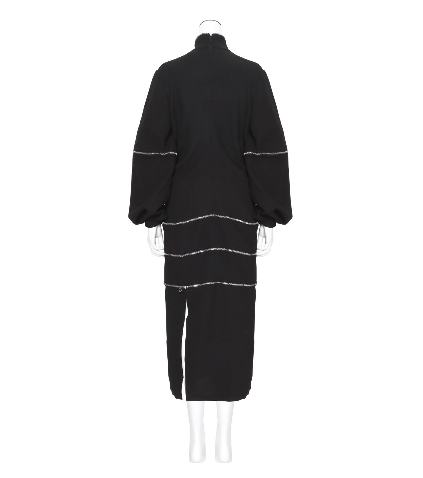 J.W.Anderson(ジェイダブリュー アンダーソン)のGathered Midi Dress-BLACK(ワンピース/one piece)-DR06WP16-13 拡大詳細画像2