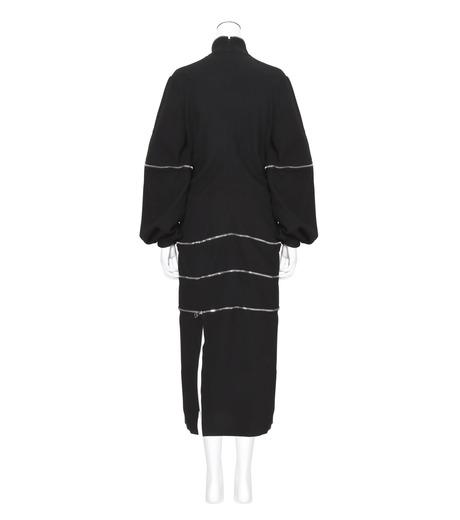 J.W.Anderson(ジェイダブリュー アンダーソン)のGathered Midi Dress-BLACK(ワンピース/one piece)-DR06WP16-13 詳細画像2