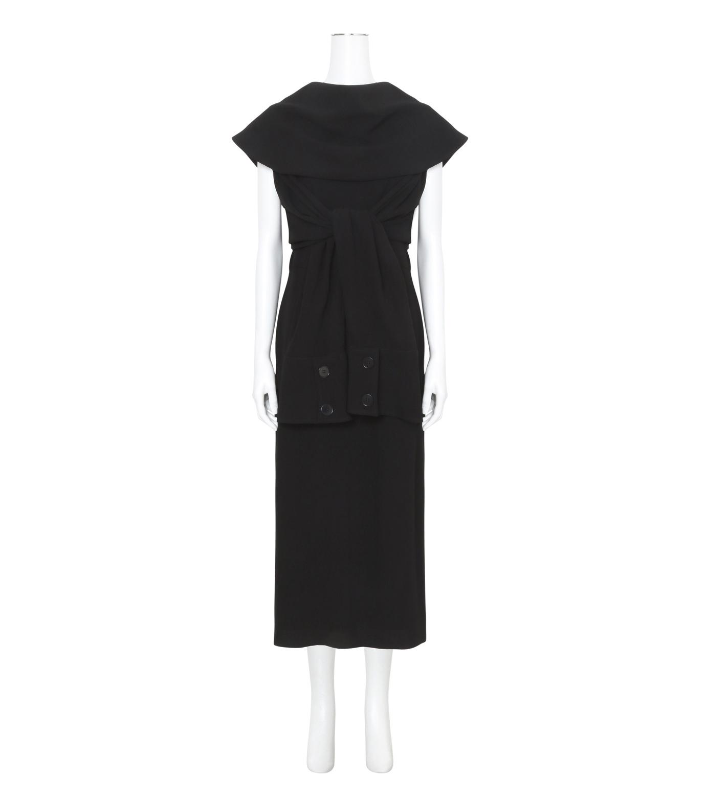 J.W.Anderson(ジェイダブリュー アンダーソン)のDeconstructed Dress-BLACK(ワンピース/one piece)-DR16-13 拡大詳細画像1