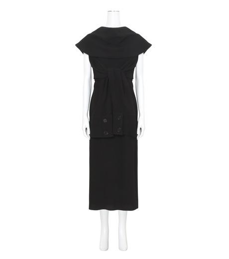 J.W.Anderson(ジェイダブリュー アンダーソン)のDeconstructed Dress-BLACK(ワンピース/one piece)-DR16-13 詳細画像1