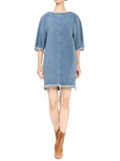 Chloe Denim Tunic Frayed Hem