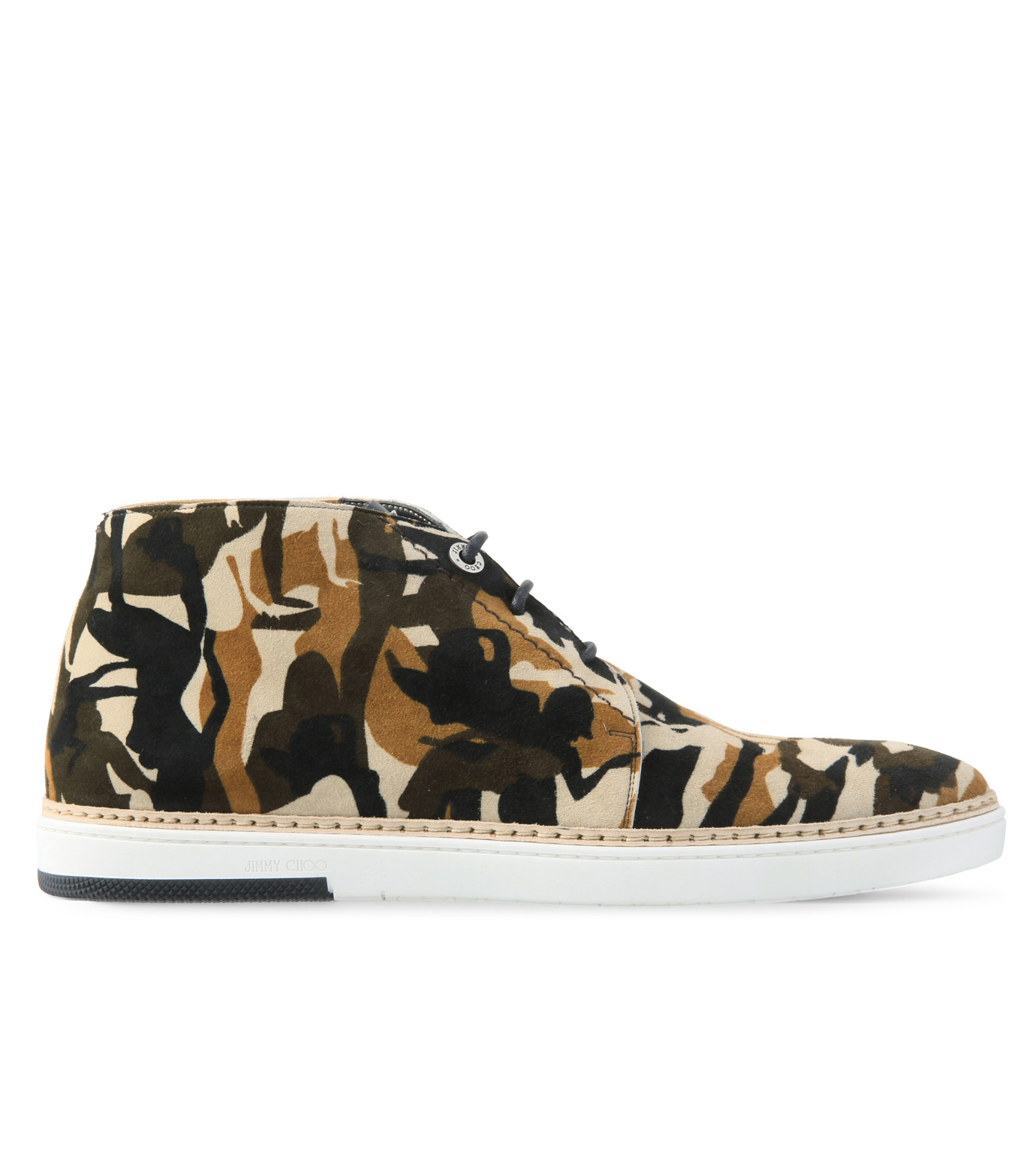 Jimmy Choo(ジミーチュウ)のCamo print desert boots-LIGHT BROWN-DRAKE-CPD-41 拡大詳細画像1