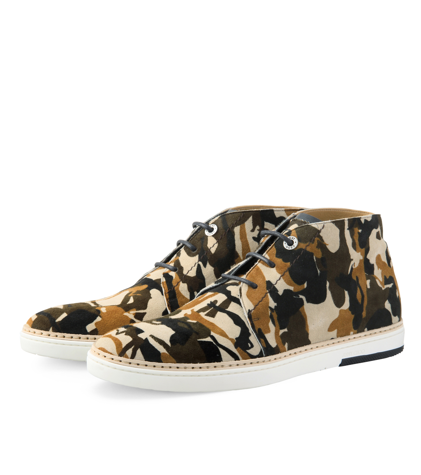 Jimmy Choo(ジミーチュウ)のCamo print desert boots-LIGHT BROWN-DRAKE-CPD-41 拡大詳細画像4