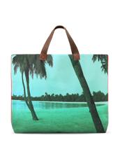 Dezso by Sara Beltran(デッツォバイ サラ ベルトラン) Maldive aqua single palm tree