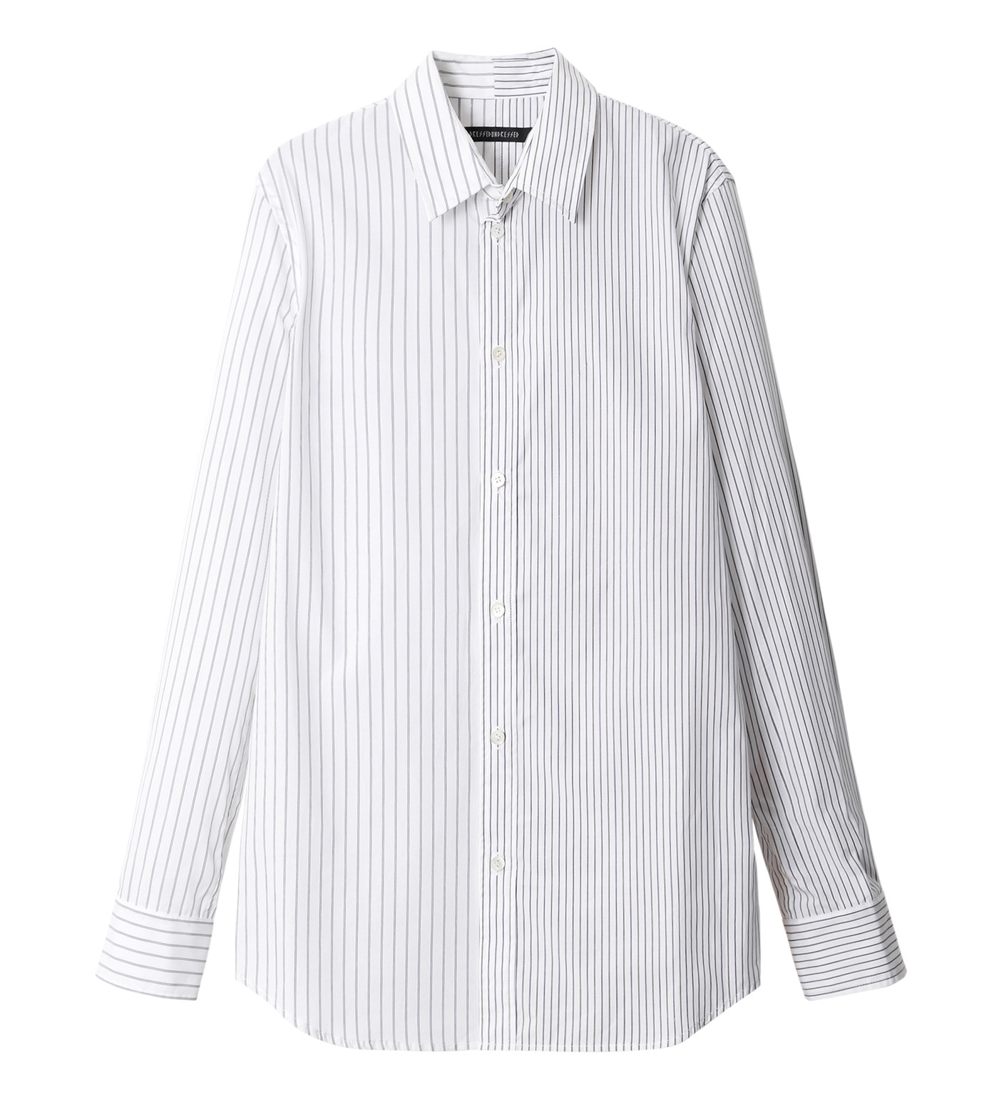 DRESSEDUNDRESSED(ドレスドアンドレスド)のPinstripe Color Block Men's Shirt-WHITE(シャツ/shirt)-DUW16105-4-W 拡大詳細画像1