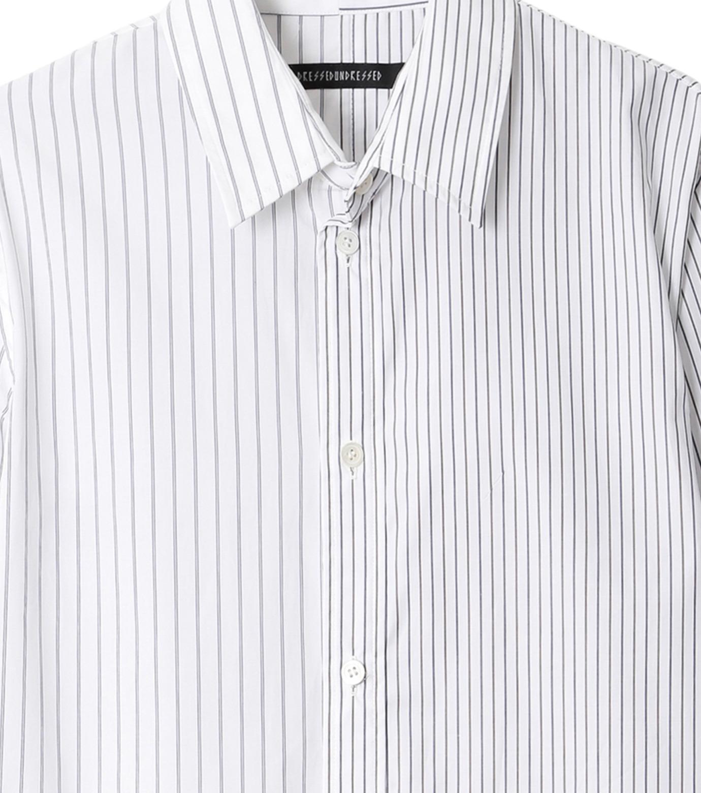 DRESSEDUNDRESSED(ドレスドアンドレスド)のPinstripe Color Block Men's Shirt-WHITE(シャツ/shirt)-DUW16105-4-W 拡大詳細画像2