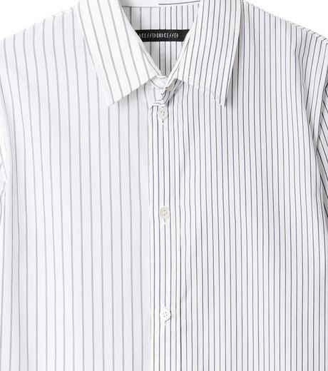 DRESSEDUNDRESSED(ドレスドアンドレスド)のPinstripe Color Block Men's Shirt-WHITE(シャツ/shirt)-DUW16105-4-W 詳細画像2