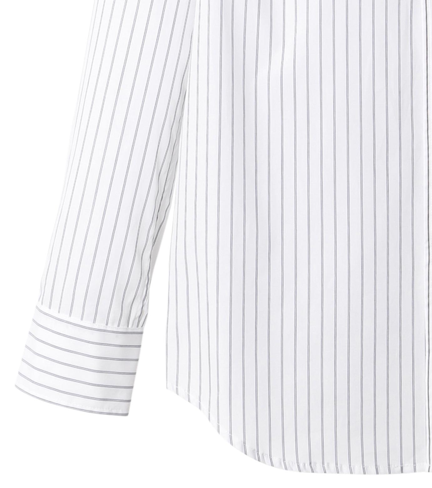 DRESSEDUNDRESSED(ドレスドアンドレスド)のPinstripe Color Block Men's Shirt-WHITE(シャツ/shirt)-DUW16105-4-W 拡大詳細画像3
