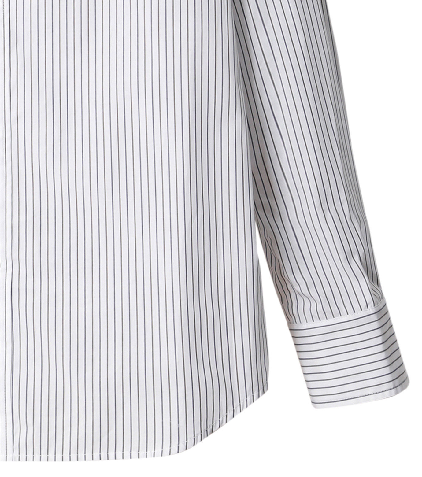 DRESSEDUNDRESSED(ドレスドアンドレスド)のPinstripe Color Block Men's Shirt-WHITE(シャツ/shirt)-DUW16105-4-W 拡大詳細画像4