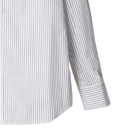 DRESSEDUNDRESSED(ドレスドアンドレスド)のPinstripe Color Block Men's Shirt-WHITE(シャツ/shirt)-DUW16105-4-W 詳細画像4