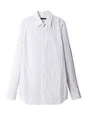 DRESSEDUNDRESSED Pinstripe Color Block Men's Shirt