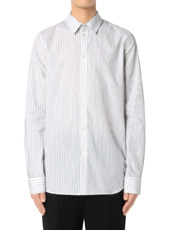 DRESSEDUNDRESSED(ドレスドアンドレスド) Pinstripe Color Block Men's Shirt