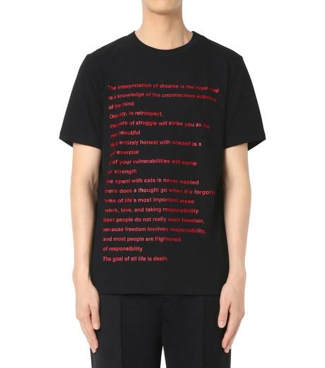 DRESSEDUNDRESSED(ドレスドアンドレスド)のPrinted T-BLACK(カットソー/cut and sewn)-DUW16182-13 詳細画像1