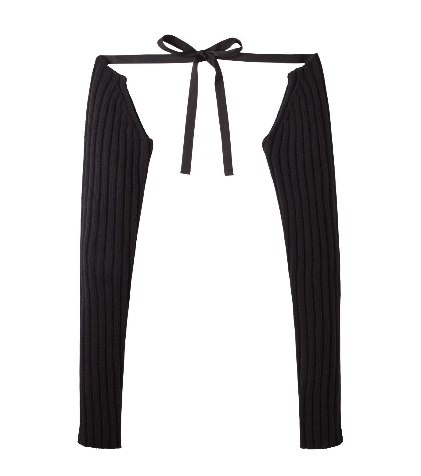 DRESSEDUNDRESSED(ドレスドアンドレスド)のKnit Sleeve-BLACK(アクセサリー/accessory)-DUW16281-13 拡大詳細画像1