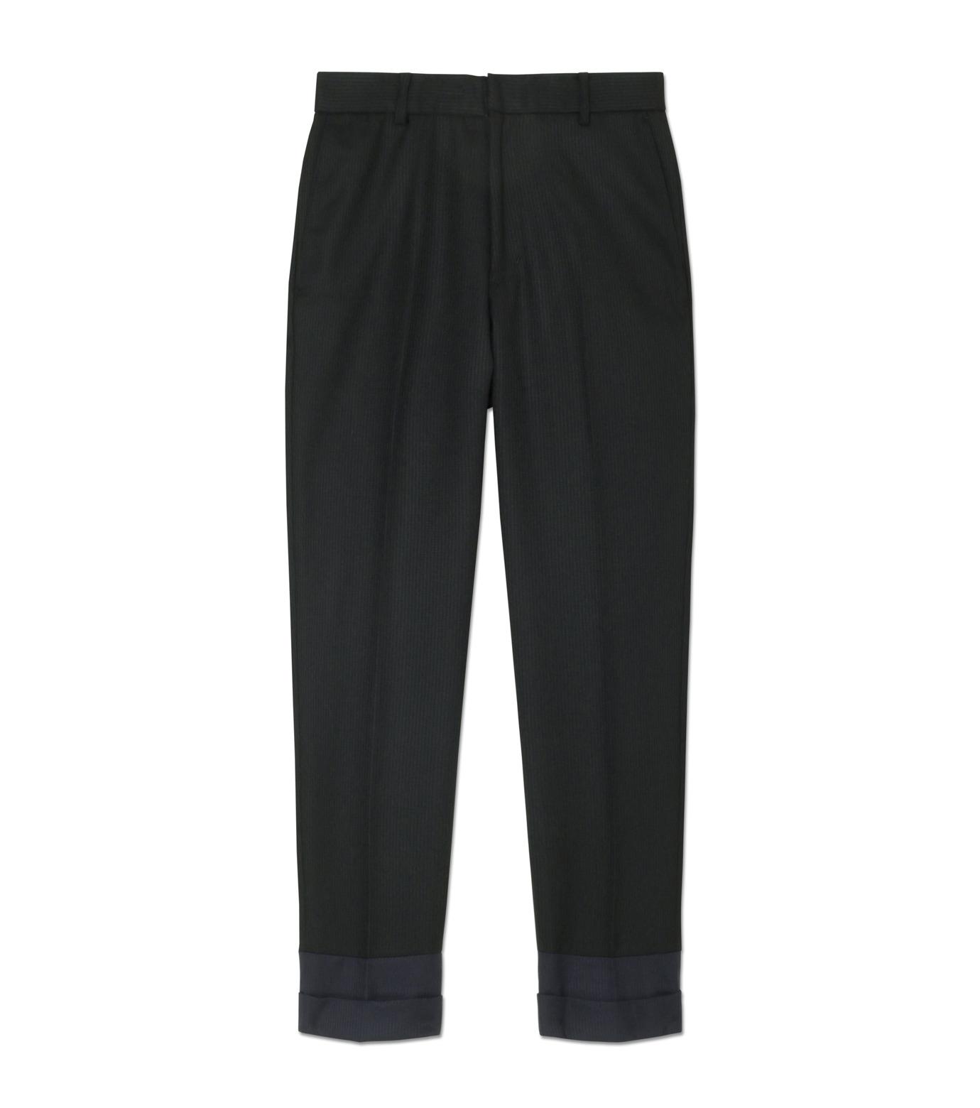 DRESSEDUNDRESSED(ドレスドアンドレスド)のContrastcolor Cropped Trousers-BLACK(パンツ/pants)-DUW16342-13 拡大詳細画像1
