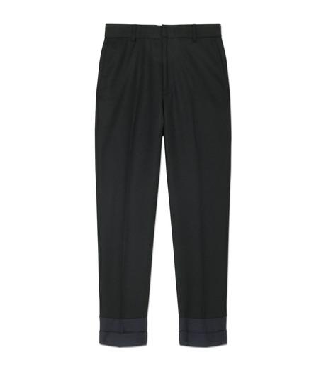 DRESSEDUNDRESSED(ドレスドアンドレスド)のContrastcolor Cropped Trousers-BLACK(パンツ/pants)-DUW16342-13 詳細画像1