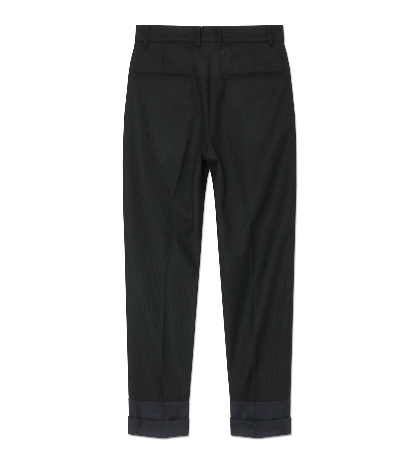 DRESSEDUNDRESSED(ドレスドアンドレスド)のContrastcolor Cropped Trousers-BLACK(パンツ/pants)-DUW16342-13 拡大詳細画像2