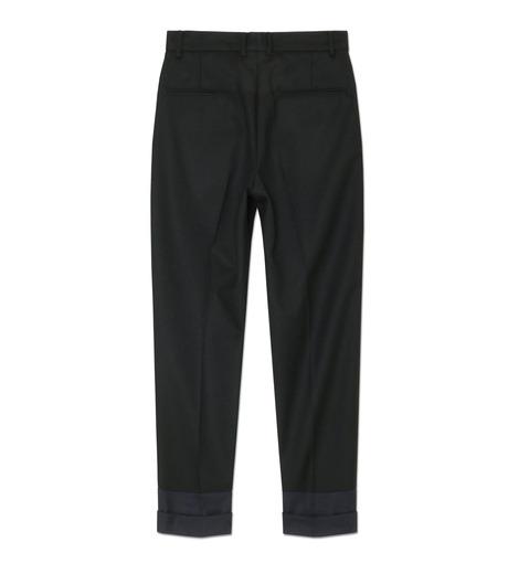 DRESSEDUNDRESSED(ドレスドアンドレスド)のContrastcolor Cropped Trousers-BLACK(パンツ/pants)-DUW16342-13 詳細画像2