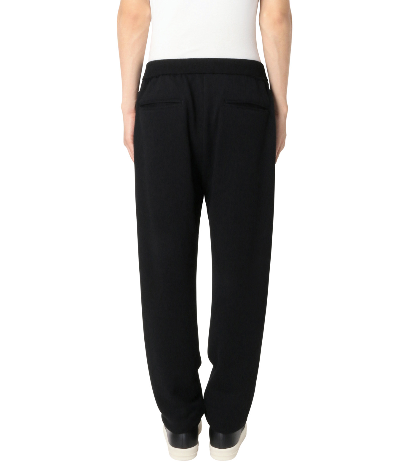 DRESSEDUNDRESSED(ドレスドアンドレスド)のDamaged Drawstring Trackpants-BLACK-DUW16352-13 拡大詳細画像2