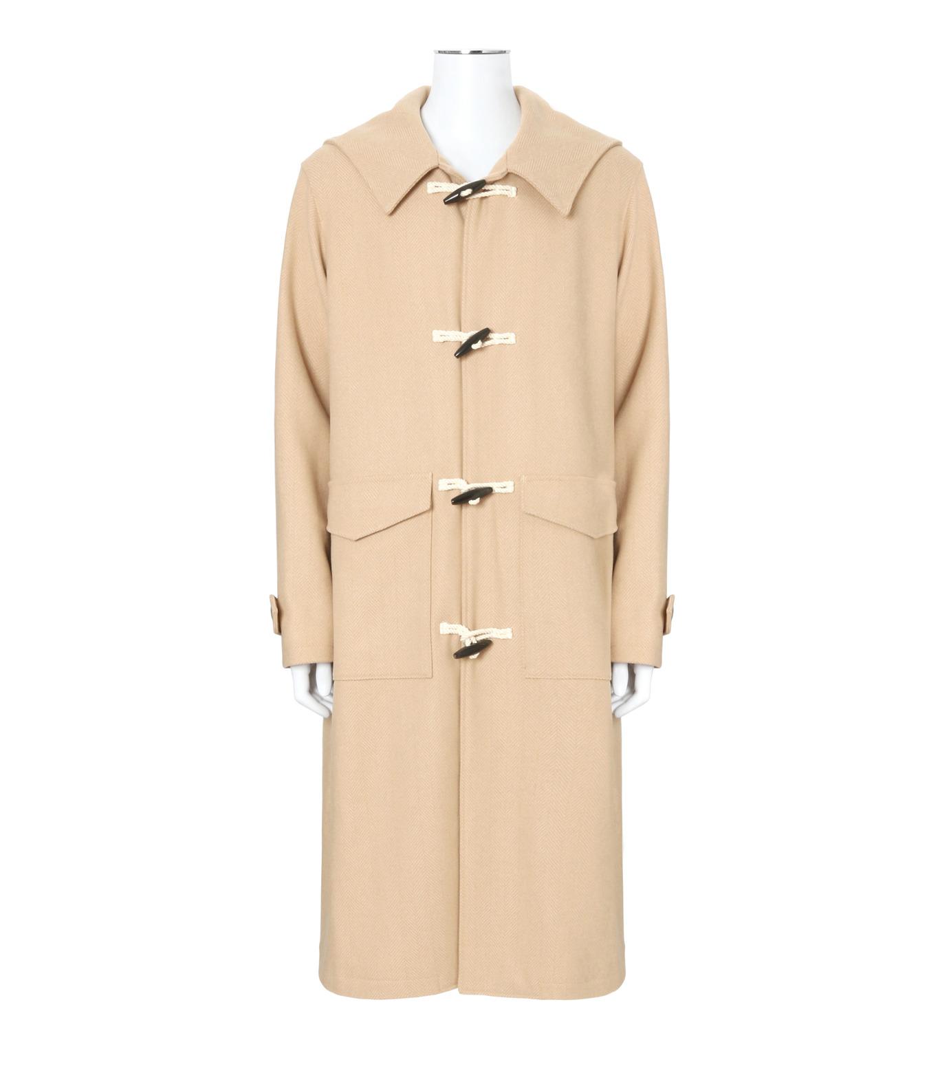 DRESSEDUNDRESSED(ドレスドアンドレスド)のMelton Wool Duffle Coat-BEIGE(コート/coat)-DUW16551-52 拡大詳細画像1