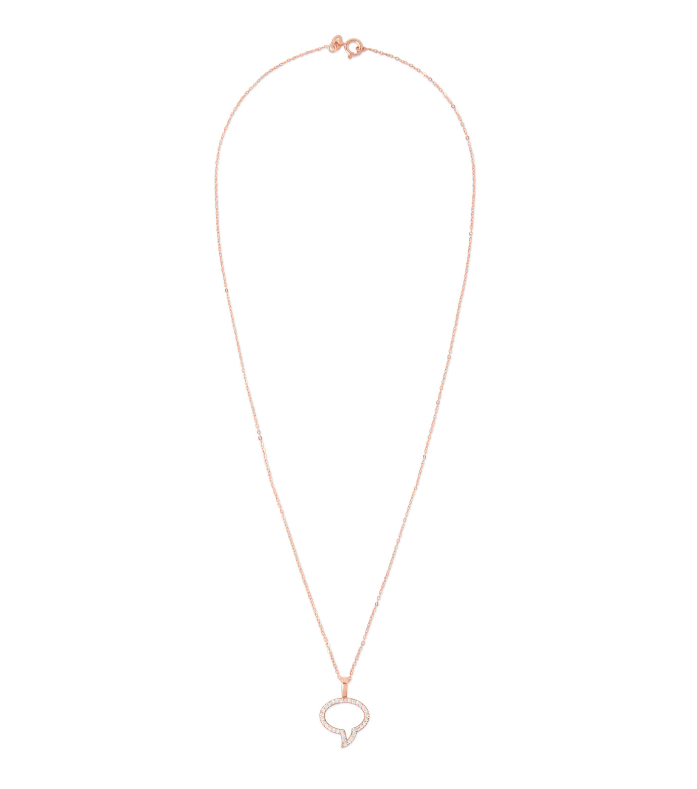 Priyanka(プリヤンカ)のSpeech Bubble Necklace-ROSE(ネックレス/necklace)-E-015-75 拡大詳細画像1