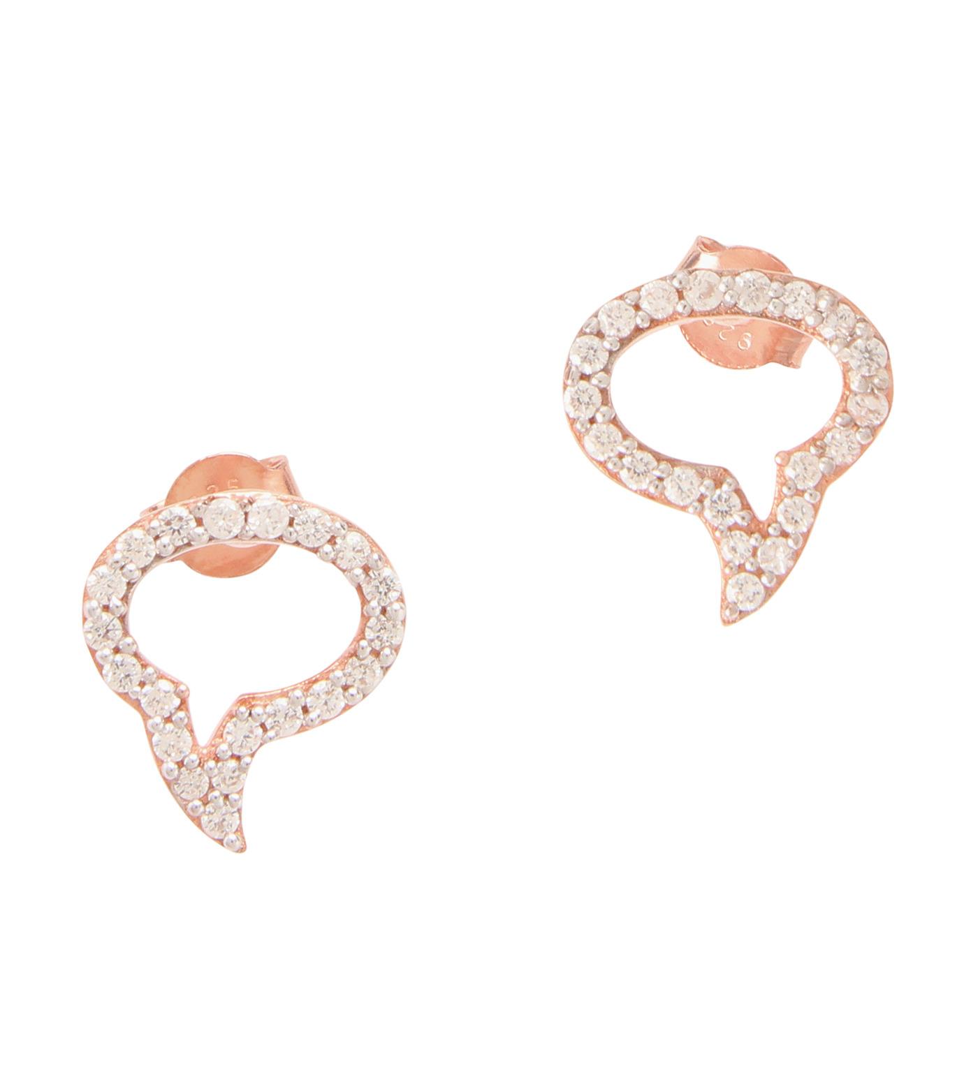 Priyanka(プリヤンカ)のSpeech Bubble Earrings-ROSE-E-18-75 拡大詳細画像1