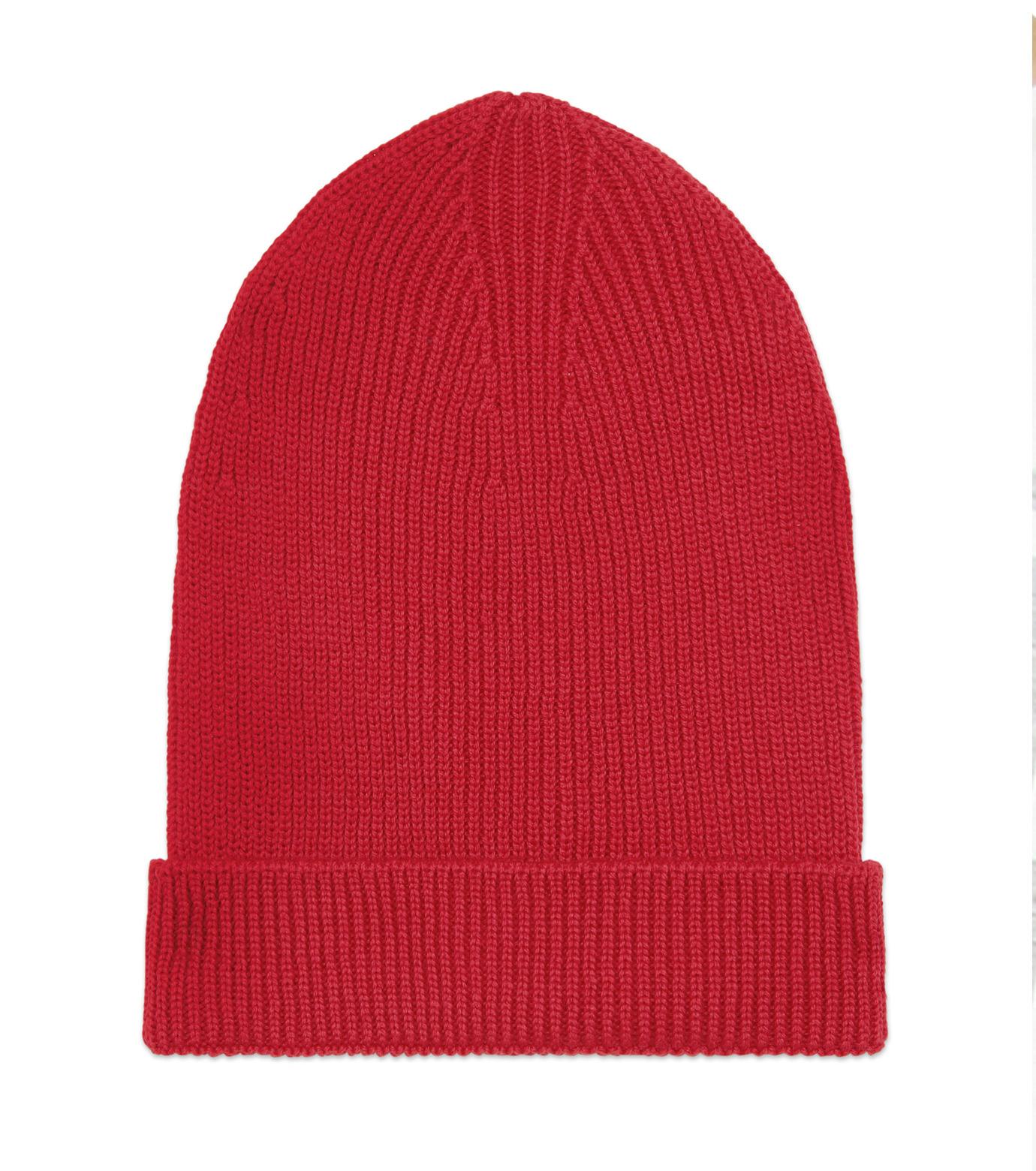 Ami(アミ)のKnit Cap-RED(アクセサリー/accessory)-E15K3102-62 拡大詳細画像1