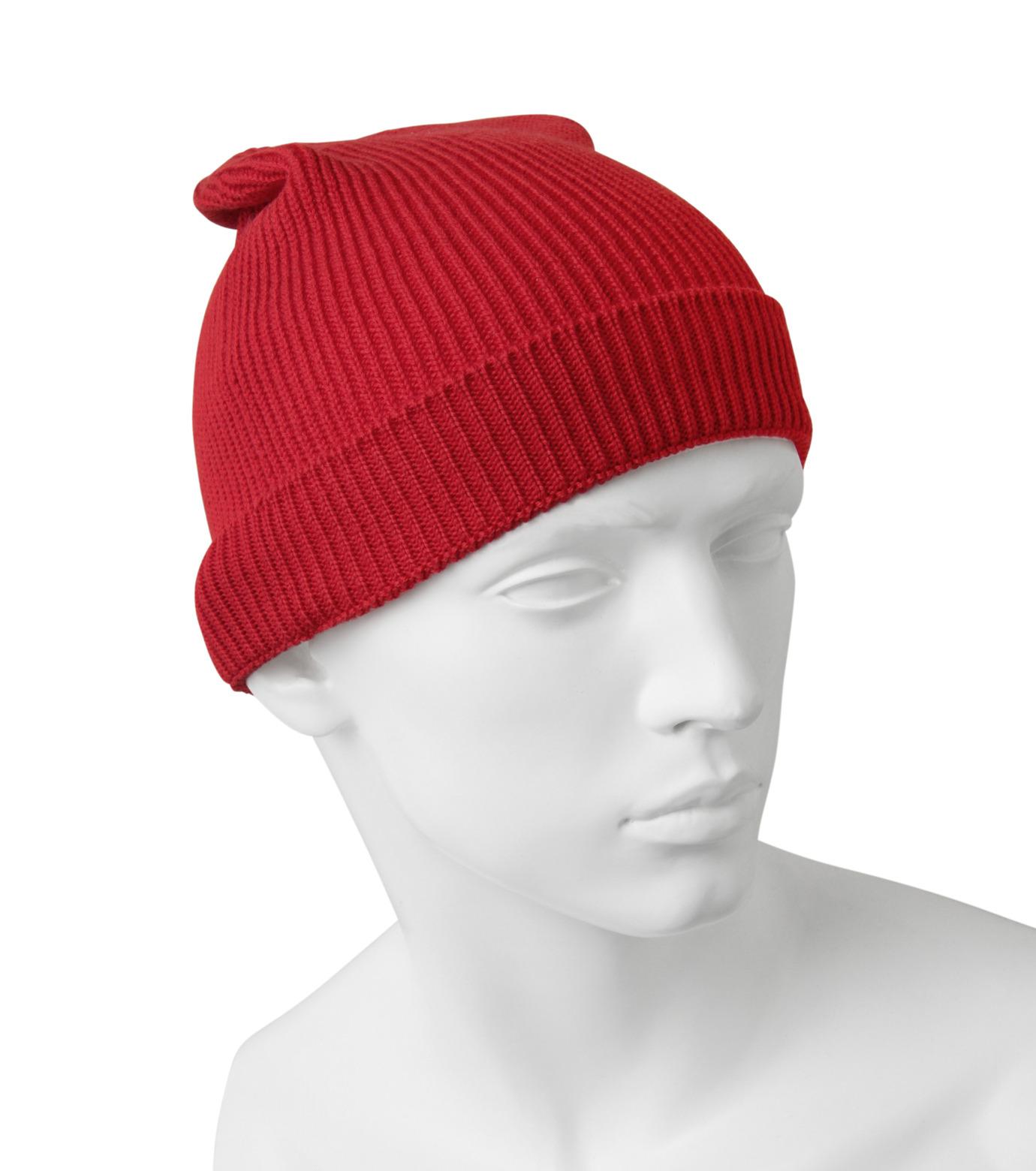 Ami(アミ)のKnit Cap-RED(アクセサリー/accessory)-E15K3102-62 拡大詳細画像2