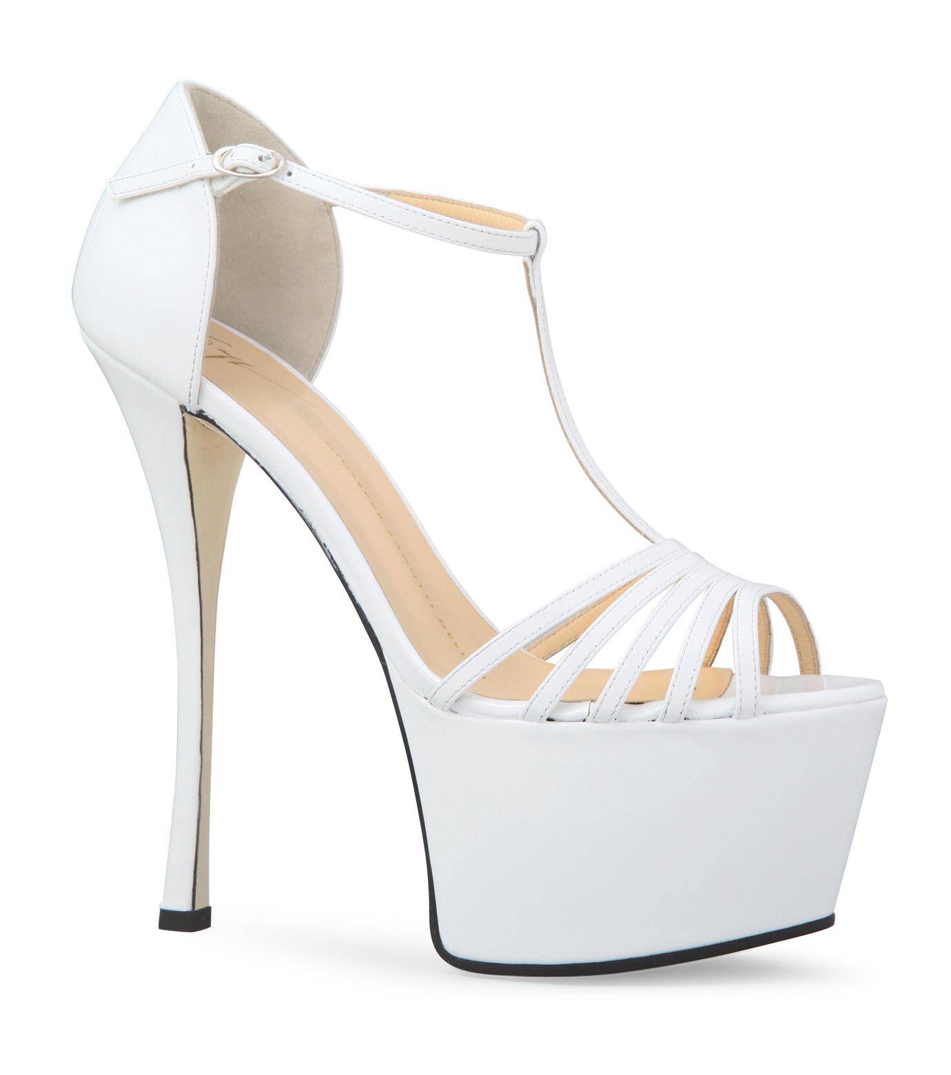 Giuseppe Zanotti Design(ジュゼッペザノッティ)のPlatform Sandal-WHITE-E30243-4 拡大詳細画像1
