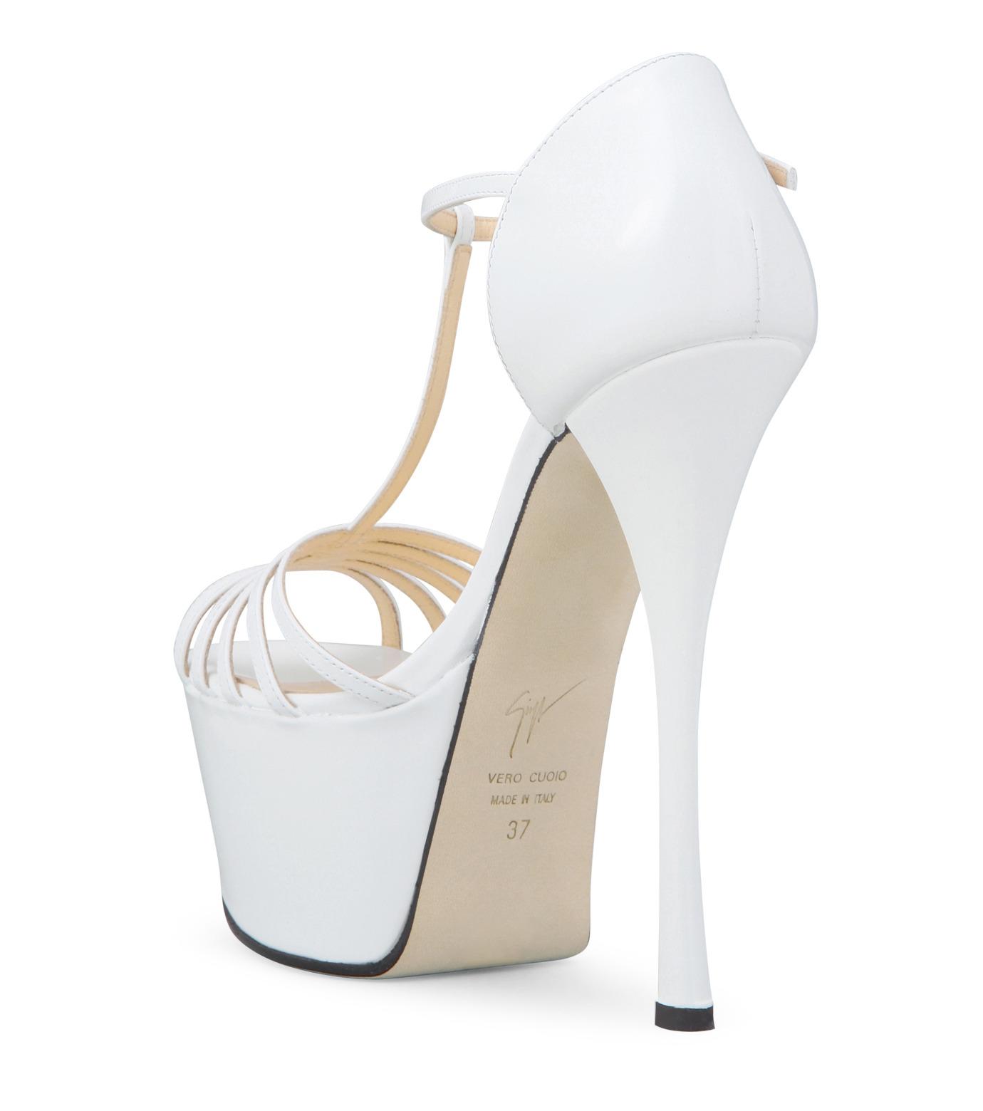 Giuseppe Zanotti Design(ジュゼッペザノッティ)のPlatform Sandal-WHITE-E30243-4 拡大詳細画像2