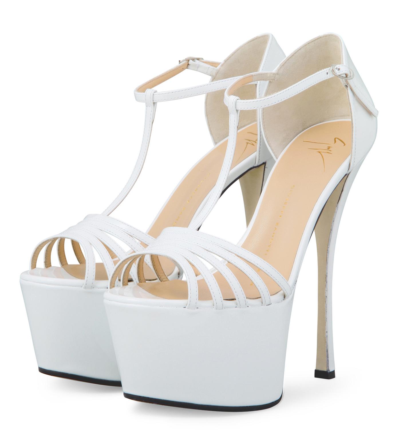 Giuseppe Zanotti Design(ジュゼッペザノッティ)のPlatform Sandal-WHITE-E30243-4 拡大詳細画像3