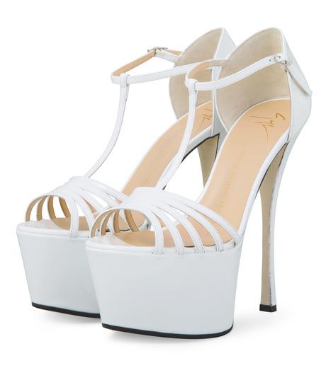 Giuseppe Zanotti Design(ジュゼッペザノッティ)のPlatform Sandal-WHITE-E30243-4 詳細画像3