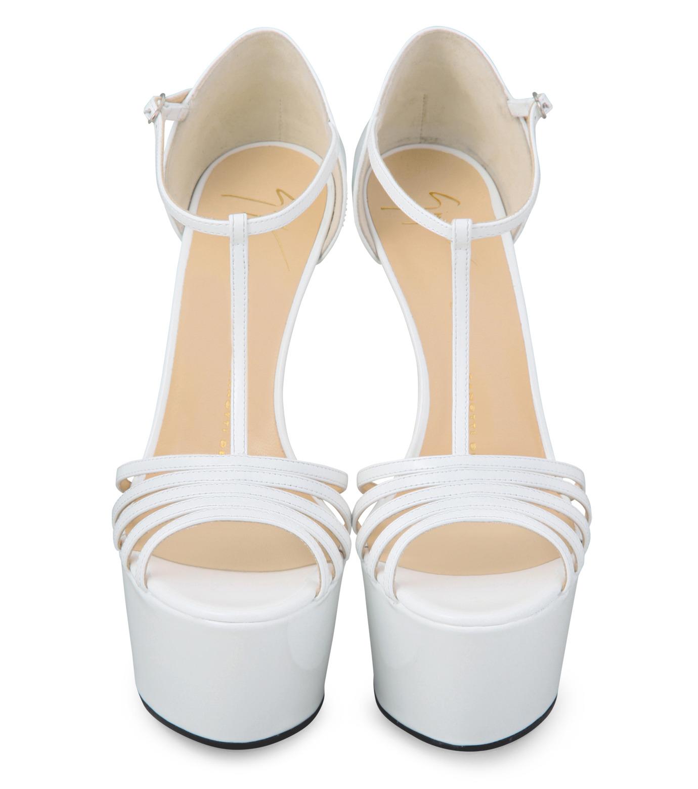 Giuseppe Zanotti Design(ジュゼッペザノッティ)のPlatform Sandal-WHITE-E30243-4 拡大詳細画像4